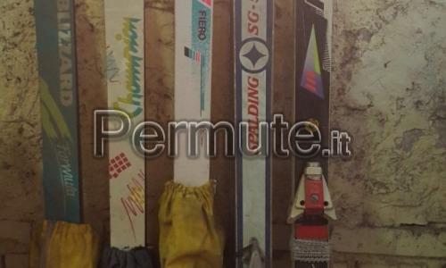 Scambio o vendo 5 paia di scii varie misure